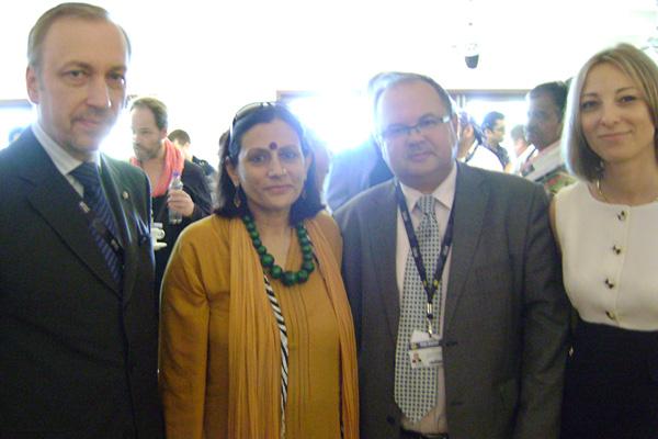 The Polish Support Group - Mr Bogdan Zdrojewski, the Polish minister of culture, H.E. Polish Ambassador (India) and Katarzyna (NInA, Poland)