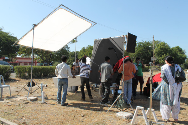 A mega shoot in progress on survivors land ...Balachadi
