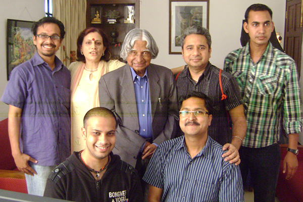 Team AAKAAR with former Indian President Dr. APJ Abdul Kalam