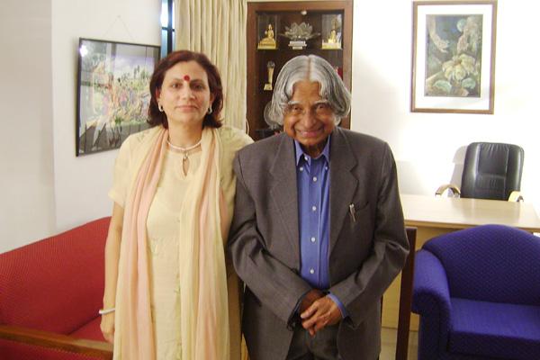 Anu Radha with former Indian President Dr. APJ Abdul Kalam