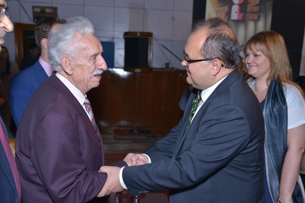 Ambassador with Mr Wieslaw Stypula, the Polish Survivor