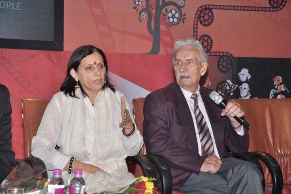 Anu Radha and Wieslaw Stypula address the Press