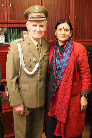 With Zbigniew Bartosz - A survivor wears his uniform